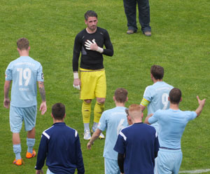 Emotionaler Abschied von Keeper Philipp Pentke